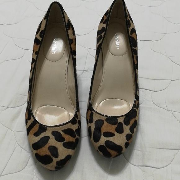 952f55359a02 Calvin Klein Shoes - Calvin Klein leopard ( Odette) pump size 5M